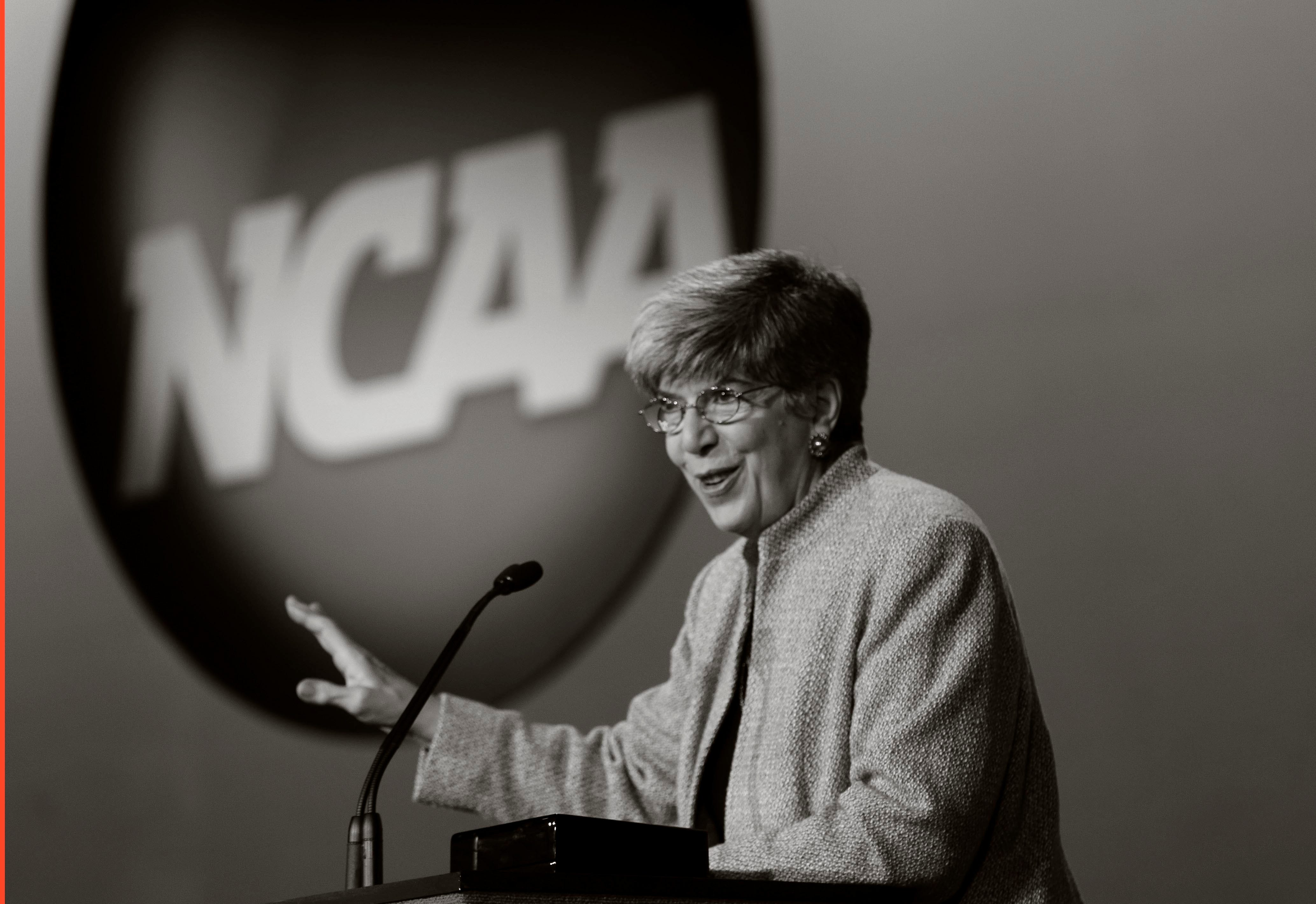 Donna Lopiano, pictured in 2013, is an educator, former coach, longtime director of women's athletics at the University of Texas at Austin and former CEO of the Women's Sports Foundation.