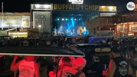 Smash Mouth comes under fire after playing to a crowded crowd at the Sturgis Motorcycle Rally in South Dakota.