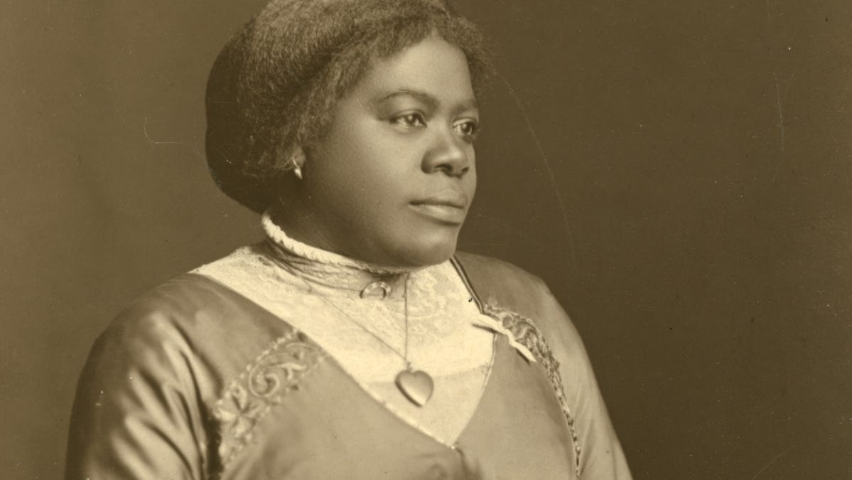 Mary McLeod Bethune in a 1915 photo.