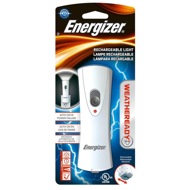 This hurricane season, add an Energizer LED rechargeable flashlight to your emergency supply.