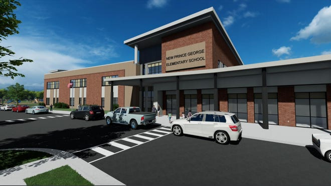 Prince George County Public Schools released these renderings of the proposed new elementary school, which is scheduled to open in 2022. [Contributed Image/Prince George County Public Schools]