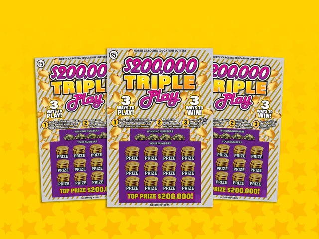 A Clinton man won $200,000 in the N.C. Lottery's Triple Play game.
