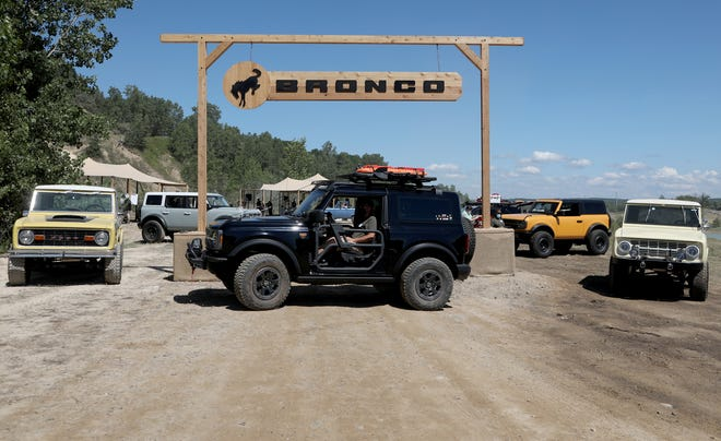 The 2020 Bronco Day event at the soon-to-be-opening Holly Oaks Off-road Park in Holly, Mich.Holly, Michigan on August 11, 2020.