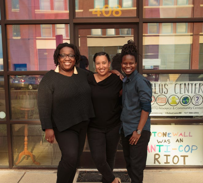 From left to right: Oprah Jrenal, Isabella Copeland and Dio Aldridge. The three serve as co-directors at Salus Center.