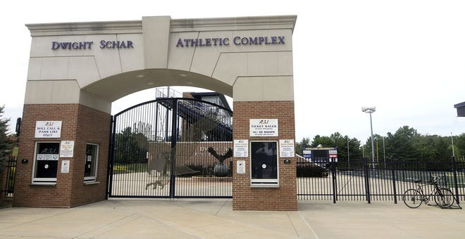 It looks like the gates at Jack Miller Stadium/Fred Martinelli Field at the Dwight Schar Athletic Complex will remain locked for the 2020 season after the GLIAC announcement of canceling the fall sports season.