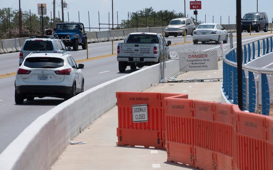 The Pensacola Bay Bridge multi-use path is scheduled to open Monday.