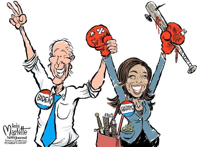 Joe Biden picks Kamala Harris as running mate.