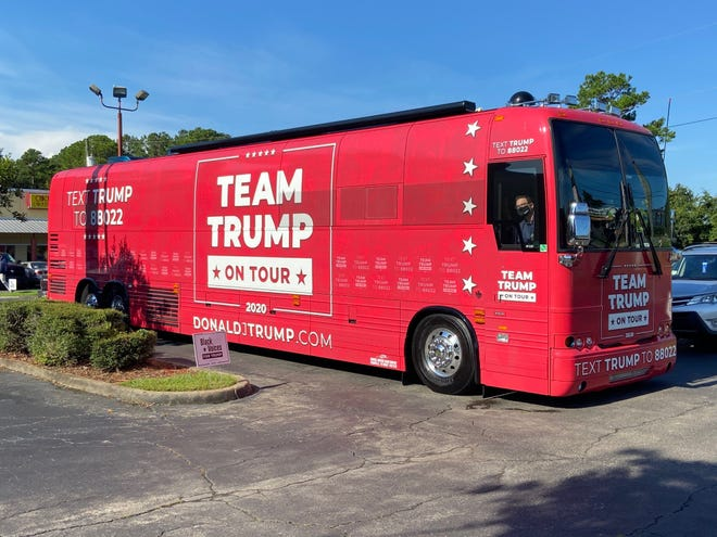 Team Trump tour bus stops in Tallahassee