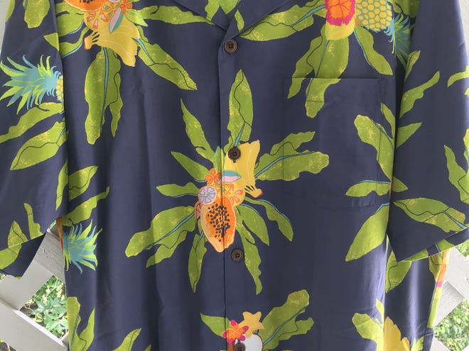 This is a snazzy Hawaiian shirt, though its not the one the alleged tree swinger wore