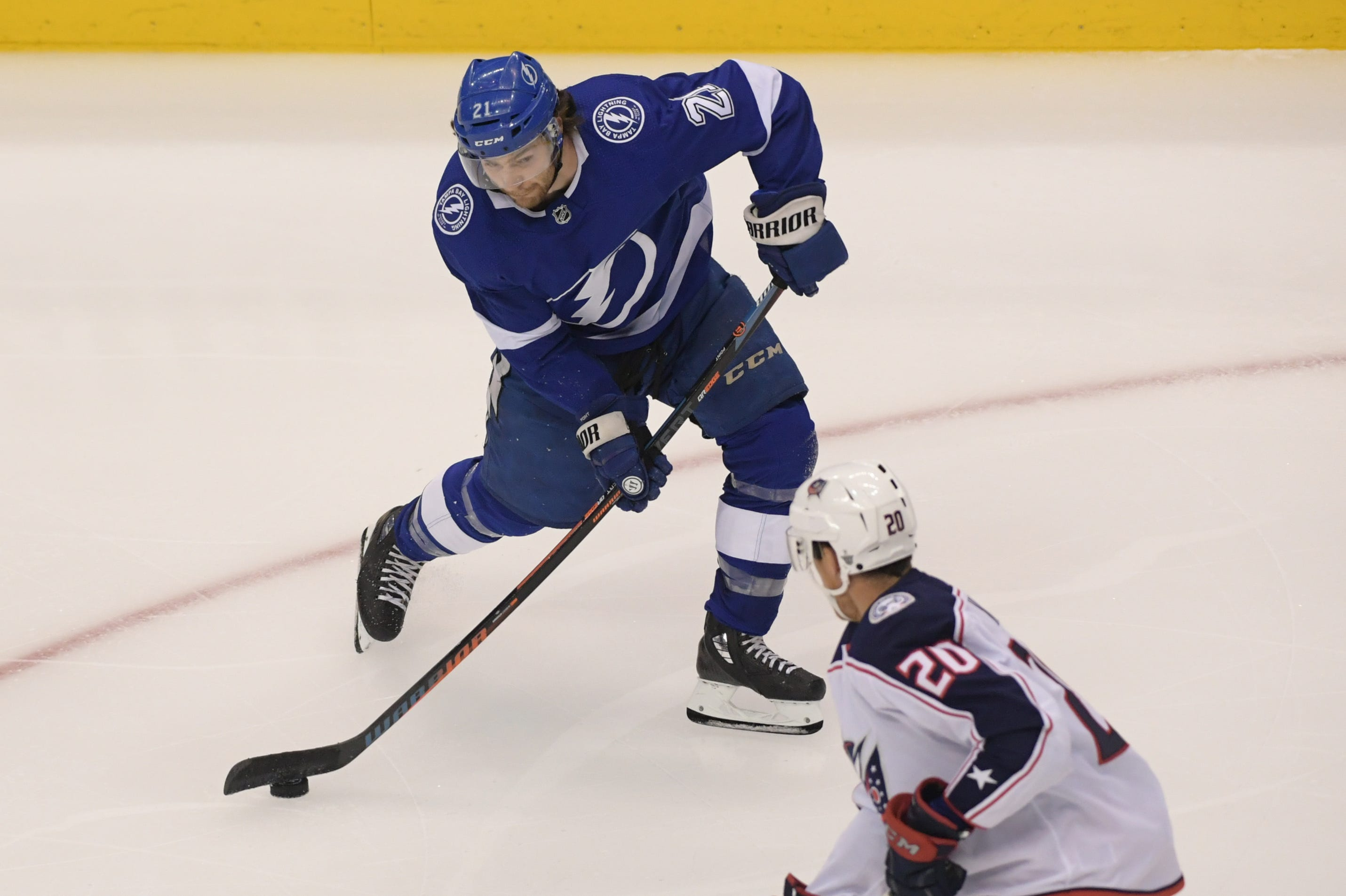 Lightning outlast Blue Jackets 5-overtime thriller to take 1-0 lead in first-round NHL playoff series