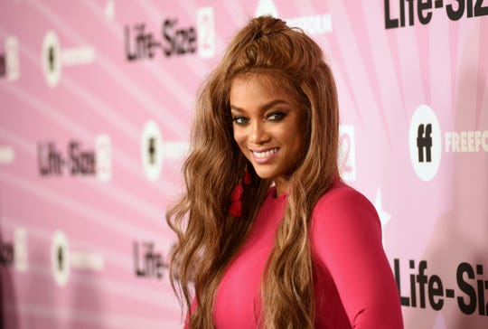 Supermodel Tyra Banks, who has hosted 'America's Next Top Model' and 'America's Got Talent,' takes over hosting duties on 'Dancing with the Stars' for Season 29.