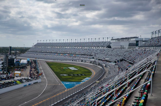 Daytona International Speedway will be quieter than normal in October.