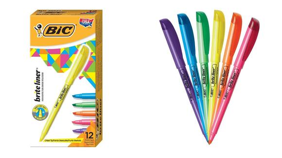 Bright colors make homework more fun.