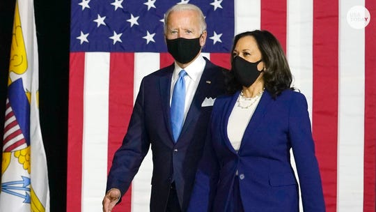 Democratic presidential nominee Joe Biden and vice presidential nominee Kamala Harris.