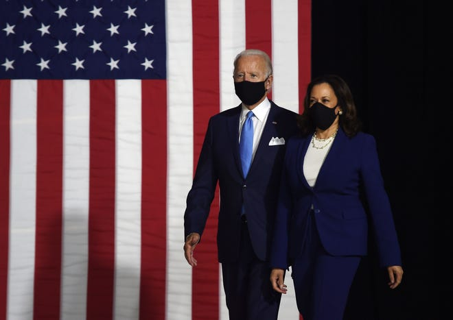 Joe Biden Kamala Harris Make First Appearance As Democratic Ticket