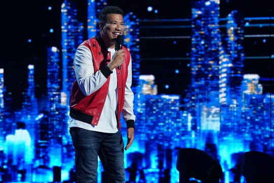 """America's Got Talent"" contestant Michael Yo during the first live shows on Aug. 11, 2020."