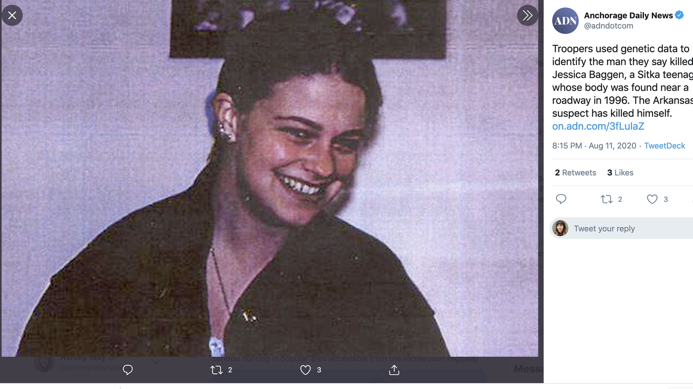 Cold case murder sexual assault of 17-year-old Alaska girl solved with DNA match – USA TODAY