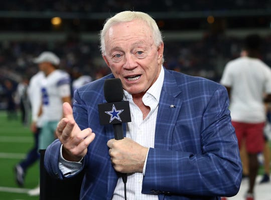 Cowboys owner Jerry Jones says he's confident Donald Trump can govern through COVID-19.