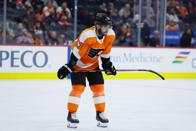 Defenseman Shayne Gostisbehere's role decreased with the Flyers during an injury-plagued 2019-20 NHL season.