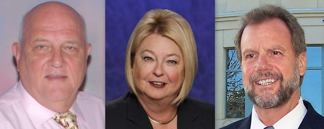 Candidates for Volusia County chair are, from left, Gerard Witman, Deb Denys and Jeff Brower