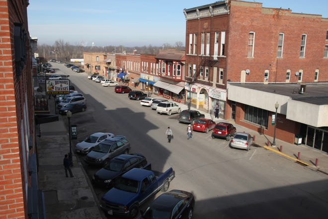 Downtown Columbus Junction is shown Feb. 2, 2012.