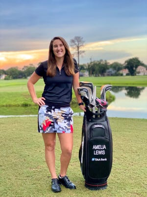 Amelia Lewis of Jacksonville has signed a bag sponsorship deal with TIAA Bank.