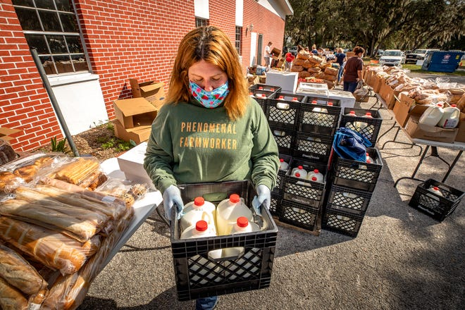 Dani Higgins leads the nonprofit Called to Serve Farmworkers near Mulberry. The organization needs back-to-school supplies for the children of migrant farmworkers. [ERNST PETERS/THE LEDGER]
