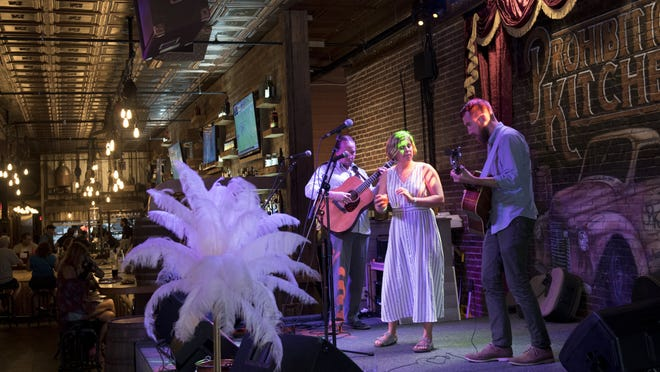 Local folk and jazz band, Aslyn and the Naysayers, performs at Prohibition Kitchen in 2017. [RECORD/FILE]