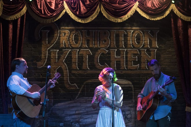 Local folk and jazz band, Aslyn and the Naysayers, performs at Prohibition Kitchen in 2017. [RECORD FILE]