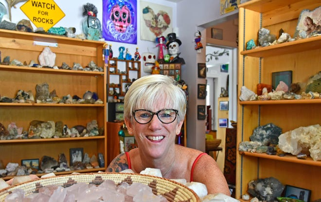"The Crystal Cave in Sarasota is reopening on Saturday. ""My store has been open for 25 years in October — seven in Sarasota ... It was just thriving. And then all of a sudden, this happens,"" owner Susan Moen said."
