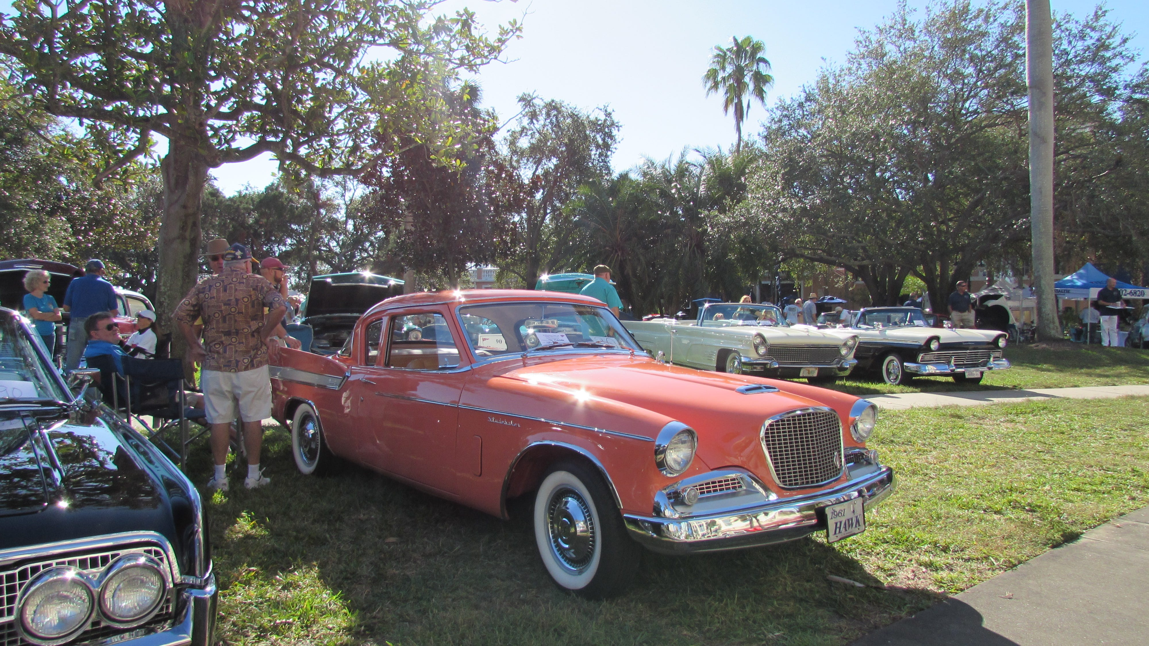 A 1961 Hawk Studebaker on display at the St. Petersburg Yacht Club Vintage Motor Classic.