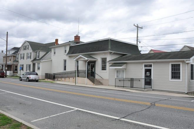 The Clayton Town Council and police station on Main Street.