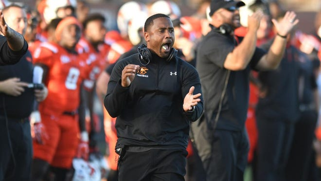 Campbell football coach Mike Minter will take the Camels to Boone on Sept. 26 to meet Appalachian State in a non-conference matchup at Kidd-Brewer Stadium.