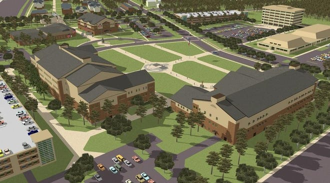A rendering shows how the new John F. Kennedy Special Warfare Center and School campus will look once complete.