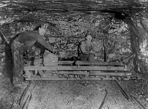 Coal miners are shown in Hocking Valley, Ohio, in 1914.
