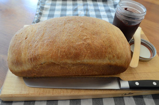This bread recipe uses the Japanese tangzhong method of creating a milk and flour paste.