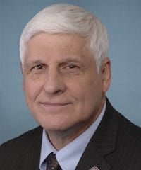 U.S. Rep. Bob Gibbs, R-Lakeville, served as keynote speaker for the groundbreaking ceremony at the foot of the Zoar Levee.