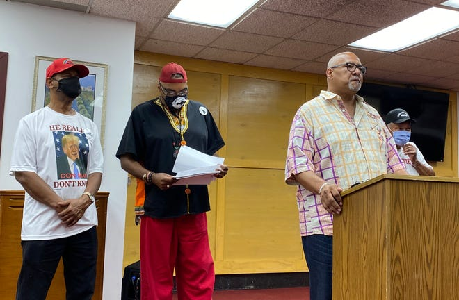 Black leaders from the Detroit Association of Black Organizations held a press conference Thursday to call out Wayne State University for alleged low Black student enrollment.