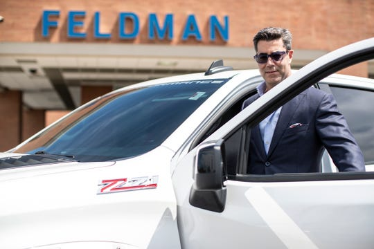 Jay Feldman of Feldman Automotive Group at Feldman Chevrolet of New Hudson on August 13, 2020.