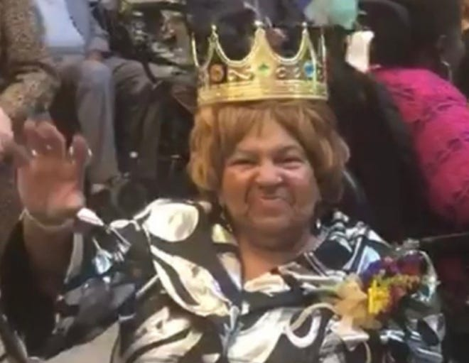 Wanda Woodward was crowned the Parks homecoming prom queen at The Park at Trowbridge in Southfield in September 2019.