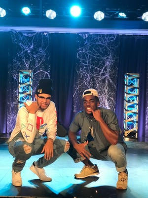 Cape Coral rapper Logan Kenneth Long (left), otherwise known as jusLo, and his friend Micah Meredith.