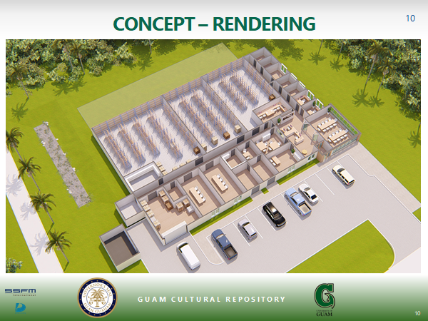 A rendering of the Guam Cultural Repository, which will hold artifacts displaced by military buildup construction.