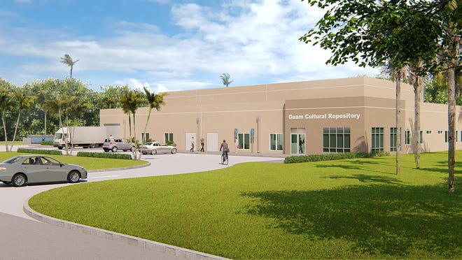 A rendering of the Guam Cultural Repository, which will hold artifacts displaced by military buildup construction. It is anticipated to open in July 2021.