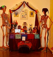 Day of the Dead Altar (Ofrenda), at Indianapolis Art Center 2008, Jody Kuchar.