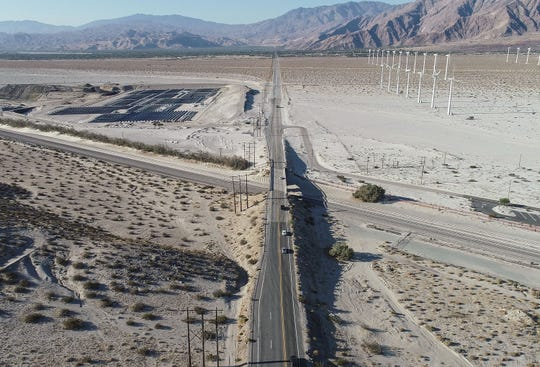 The Indian Canyon Drive bridge over the railroad will be widenend starting in 2021.  The road currently narrows down to two lanes and is dangerous for cyclists and pedestrians at the railroad in north Palm Springs, August 12, 2020.