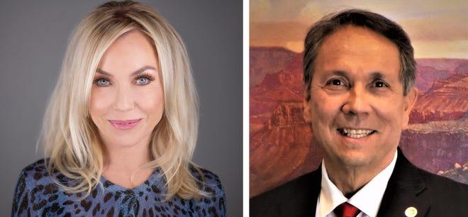 Candidates for Scottsdale mayor Lisa Borowsky and David Ortega