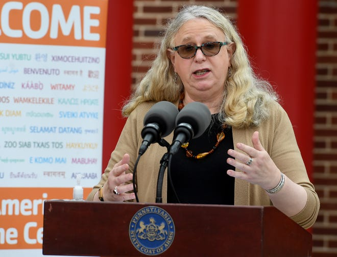 Secretary of Health Dr. Rachel Levine visits the York County YMCA to announce the findings of the Wolf Administration's COVID-19 Response Task Force for Health Disparity, Thursday, August 13, 2020.