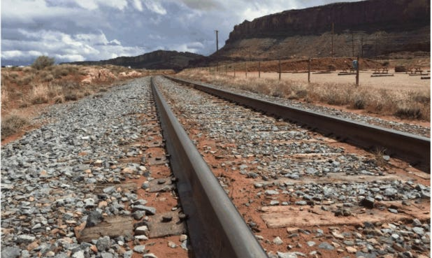 Track laid between Salt Lake City and Moab is ripe for passenger trains.