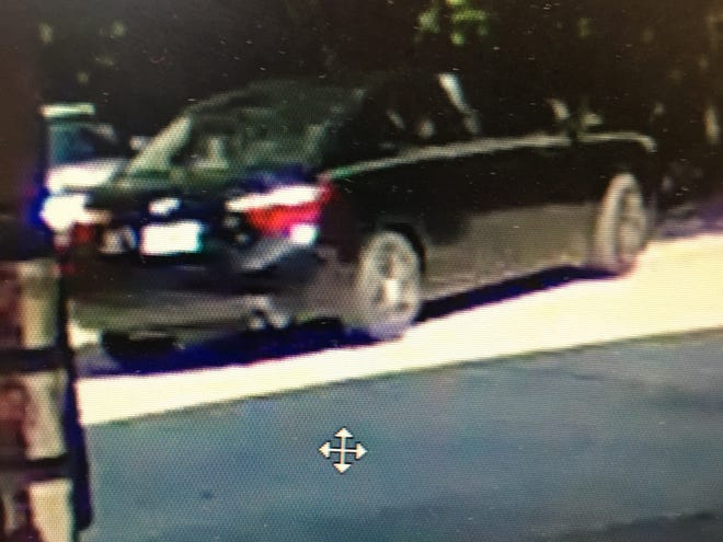 Tallahassee police are looking for this black sedan after a man was seen forcing a woman into the car on Wednesday, Aug. 12, 2020, in the parking lot of Murphy Gas, 3501 Apalachee Parkway.