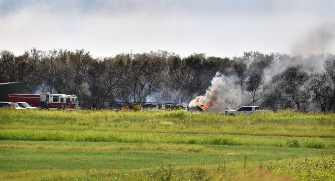The Wichita Falls Fire Department assisted firefighters from several volunteer departments as well as personnel from the U.S. and Texas Forest Services as they  battled a brushfire east of Rifle Range Road and south of Old Iowa Park Road Thursday afternoon.